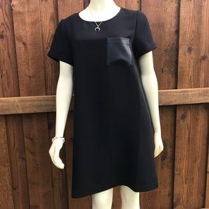 J. Crew Faux Leather Pocket Tee Dress